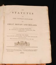 1809 STATUTES United Kingdom 1807-09 George III Laws