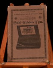 c1890 Illustrated Catalogue and Price List of Superior Solid Rubber Type Typing