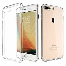 For iPhone 7/7 Plus Ultra Thin Transparent TPU Case With Anti-Dust Plug Cover