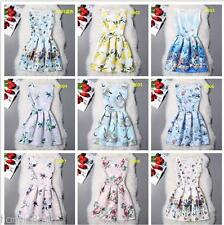 Sexy Women summer patty fashion dress hot mini printed yarn Chiffon dresses