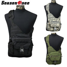 Outdoor Tactical Airsoft Versipack Shoulder Padded Backpack Bag Pouch ACU/OD/BK