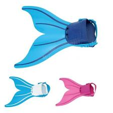 Kids Mermaid Swimming Flipper Swim Tails Fin Monofin Girls Toy Swimmable H9A8