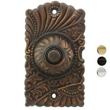 ONE (1) SOLID BRASS VICTORIAN HARDWIRED PRESS DOORBELL ~ 3 FINIISHES ~NEW! DRB04
