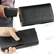 PU Leather Magnetic Flip Belt Clip Hip Case Pouch Holster For Mobile Phone Apple