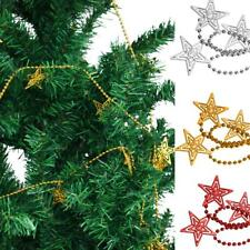 Christmas Hollow Star Xmas Tree Decorations Ornaments Ball Chain Hanging String