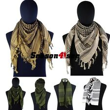 Outdoor Airsoft Tactical Arab Shemagh Kafiya Windproof Warm Scarf Mask 4 Colors