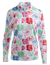 BETTE & COURT WOMENS GOLF TOP SIRIA SIZE SMALL T13411 FLOWER NWT