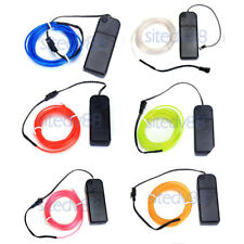 3M Flexible EL Wire Neon Glowing Strip Light Car Bike Party Lamp with Inverter
