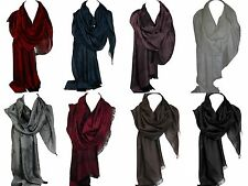 Beautiful Self Embossed Silk Satin Scarf Stole Wrap Shawl Hijab Rich Colours