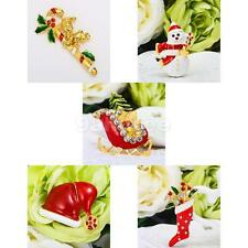 Hot Gorgeous Enamel Christmas Brooch Pins Xmas Jewelry Gifts