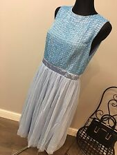 Maya Embellished Top Midi Dress with Tulle Skirt RRP £85 (AS-46/27)