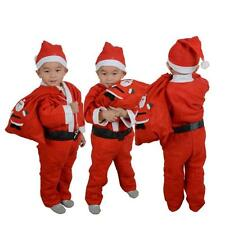 Toddler Kids Boys Children Christmas Santa Claus Costume Dress Outfit Hat Set !!