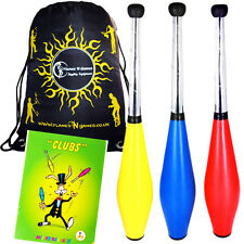 Trainer Juggling Club Set - 3 Clubs + Mr Babache Club Juggling Book + Bag
