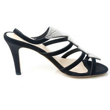 NEW Sensational Soles Olivia Black Leather Heels Ladies Larger Size Shoes Sizes