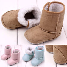 Toddler Warm Snow Shoes Baby Girls Child Boys Soft Sole Fur Winter Crib Boots