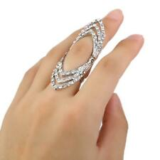 Urban Silver Gold Stack Hollow Above Knuckle Hinged Finger Band Midi Ring Boho