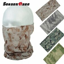Durable Quick Drying Scarf Face Mask Tactical Hunting Airsoft Hood Mask 4 Colors