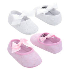 Baby Girls Shoes Infant Cute Bowknot Ribbon Soft Sole Crib Sneaker 0-18 M