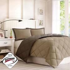 NEW Twin XL Full Queen King 3 pc Brown Tan Reversible Comforter Set Dorm Bed NWT