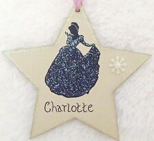 DISNEY PRINCESS CINDERELLA HANDMADE PERSONALISED CHRISTMAS TREE DECORATION STAR