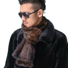 Men's 100% Real Genuine Knitted Mink Fur Scarf Shawl Wrap Classic Gift 68.89*5.9