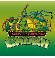 TMNT Personalised Edible Image REAL Icing X-Large Cake Topper