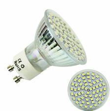 3528 SMD Lamp Bulb GU10 220V 60 LED Power Spot Light 6500K High 5W White 2016