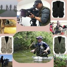 Multi Pocket Vest Waistcoat Fly Fishing Hunter Photo Journalist Travel Work Tool