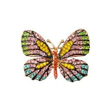 Vintage Crystal Rhinestone Butterfly Brooch Pin Accessory Gift for Girl Women