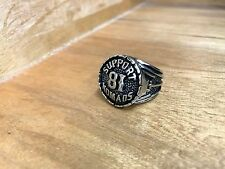 Silver 81 Support Nomad Ring for Harley Davidson Support 1% ER Outlaw Biker