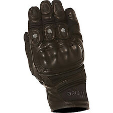 Weise Aztec Black Moto Motorcycle Motorbike Armoured Leather Gloves   All Sizes