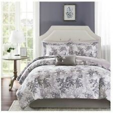 NEW Twin Full Queen Cal King Bed Gray Floral 9pc Comforter Sheets Pillow Set NWT