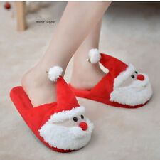 Christmas Gift Santa Claus Child Unisex Winter Plush Slippers Warm Home Shoes