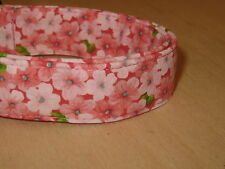 Light Pink Floral Adjustable Dog Collars & Martingales & Leashes & Cat Collars
