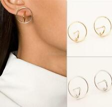 Simple Geometric Figure Round Circle Ear Clip Cuff Stud Earrings Accessorize