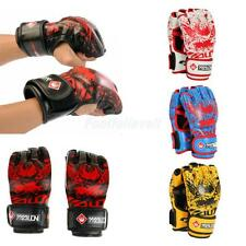 1 Pair Half Finger Boxing Sanda Fighting Sandbag Training Boxing Gloves Mitts