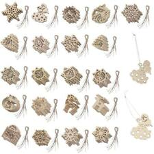 10Pcs Wooden Christmas Xmas Party Tree Hanging Decorations Ornaments Tags Craft