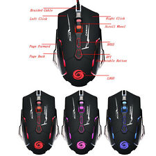 Premium 3200 DPI 7D Buttons LED Blacklit Wired Gaming Mouse Mice For Gamer LOT