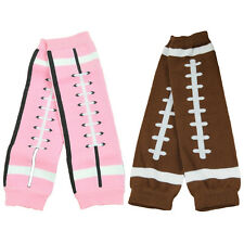 Baby Toddler Kid Child Leggings Long Socks Tights Arm Leg Warmers (Pink/Brown)