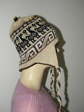 NWOT From Peru Alpaca Bended Thick Reversible Chullo Child Size = Preteen #61601