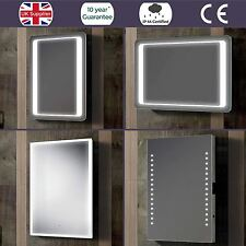 LUXURY SLIMLINE ILLUMINATED LED BATHROOM MIRROR IP44 DEMISTER SENSOR SWITCH