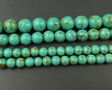 green howlite turquoise beads round loose gemstone beads 6mm 8mm 10mm 12mm 15''