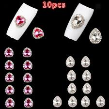 10pcs/set 3D Nail Art Sparkly Rhinestone Crystal Gem Charms for Party Daily DIY