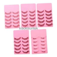 5 Pairs Handmade Natural Long False Eyelashes Eye Lashes Makeup Eyelashes Beauty