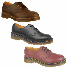 Dr Martens 1461 3 Hole Eyelet Mens Womens Leather Shoes - Classic Yellow Stitch