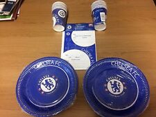 CHELSEA FOOTBALL BIRTHDAY PARTY SET Official Product 16 Plates Cups Invitations