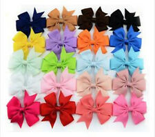 Girls New Hot Clips Grosgrain Hairpin Baby Big Hair Ribbon 1PC Boutique Bow