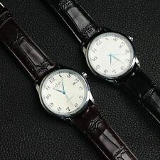 Hot Automatic Mechanical Faux Leather Day Calendar Men's Luxury Wrist Watch