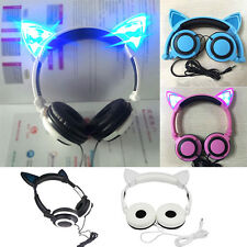 Ear Cat Headphones Japan Cosplay Nekomimi Led Kawaii Axent Style Glowing Blue!