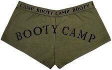 Womens Olive Drab Booty Camp Slim Fit Booty Shorts Underwear